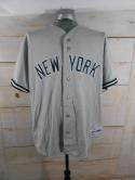 VTG New York Yankees 90s Majestic Mens XL Gray Jersey Made in USA Genuine Merch