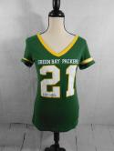 Green Bay Packers Womens S NFL Team Apparel T Shirt Top V Neck Jersey