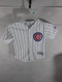 Chicago Cubs 4T Toddler Majestic Cool Base White Button Down Jersey Childs Kids