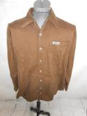 VTG Yamaha Mens XL Brown Motorcycle Music Drums Boating Racing Button Down Shirt