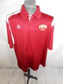 Iowa State University Cyclones Mens XL Team Issued Russell Polo Shirt Football
