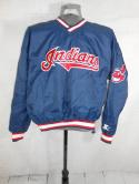 Cleveland Indians Starter Pullover Chief Wahoo V Neck Jacket Mens M MLB Nylon
