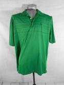 Nike Tiger Woods Collection Mens L Dri-Fit Green Striped Golf Club Polo Shirt