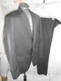 Banana Republic Lanificio Tailored Slim Fit Mens 40S Gray Wool Blazer Suit 33/32