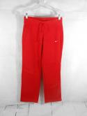 Nike Womens S Red White Swoosh Loose Sweatpants Track Sweat Athletic Pants Gym