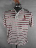 Guinness Stout Mens L M Tight Toucan Rugby Striped Red White Polo Shirt Official