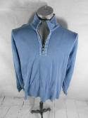 Tommy Bahama Jeans Perfect Fit Mens L Blue 1/2 1/4 Zip Pullover Jacket Sweater