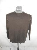 Tommy Bahama Mens L Cotton Cashmere Brown Heather Pullover Sweater Reversible