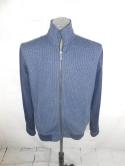 Marc Anthony Mens L Blue Full Zip Up Jacket Cotton Navy Denim Casual Track