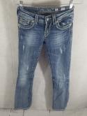 Miss Me Womens 25 JE5014B35R Boot Cut Washed Distressed Wash Jeans Buckle Bling