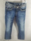 Miss Me Womens 26 JP4288-5 Boot Cut Washed Distressed Wash Jeans Buckle Bling