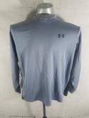 Under Armour Mens L Gray Black Athletic Long Sleeve T Shirt Heat Gear Cold Gear