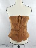 Maxima Wilsons Leather Womens M Boho Hippie 70s Style Tube Strapless Top Suede