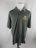 Pittsburgh Steelers Gray Majestic Cool Base Mens 2XL Polo Shirt Football NFL