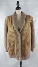 Day Furs Genuine Fur Cardigan Coat Sweater Fox Carmel Indiana Shawl Mink Muskrat