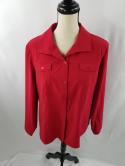 Chicos Womens 2 Red Button Down Dress Shirt Top Blouse Polyester
