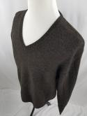 Nautica Mens XXL Brown Wool Blend V Neck Sweater Knit Pullover NWT
