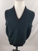 Alan Paine Mens 42 VTG Green Geometric 100% Lambswool Golf Sweater Vest Wool