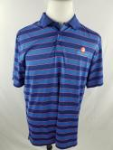 Under Armour Mens XL Loose Blue Striped Eagles Nest Country Club Golf Polo Shirt