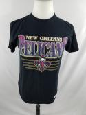 New Orleans Pelicans Mens S Traditional Fit Mitchell & Ness Black T Shirt NBA