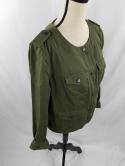 Liz Claiborne Womens L Army Olive Green Military Officer Button Down Jacket