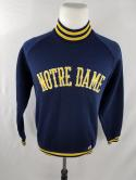 VTG Notre Dame Mens M Champion Brand Dead Stock Spell Out Sweatshirt Jacket Crew