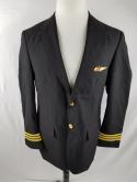 Pilot Men 42R Black Crew Outfitters Airline Wings Pin Blazer Sports Coat Jacket