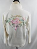 Tommy Bahama Womens S Garden of Hope & Courage 1/2 Zip Pullover Jacket Sweater