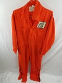 VTG Northeast IBEW Mens 46 Orange Electrician Jumpsuit Coverall Topps Electrical