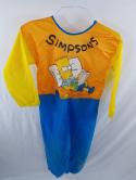 VTG 1989 Bart Simpson The Simpsons Halloween Costume Jumpsuit Coverall Youth L