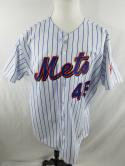Pedro Martinez Mens 52 Majestic New York Mets VTG Button Down Jersey MLB