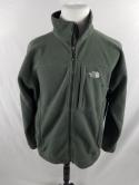 The North Face Mens L Army Green Sage Zip Up Jacket Soft Shell Fleece WIndwall