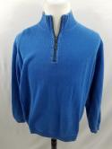 Tommy Bahama Mens L XL Reversible Blue Green 1/2 1/4 Zip Pullover Sweater Cotton