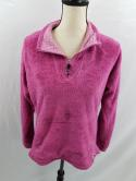 The North Face Womens L Berry Pink Fleece 1/4 1/2 Zip Jacket Base Layer Glacier