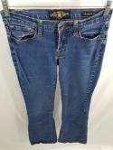Lucky Brand Womens 4/27 4 S Distressed Wash Charlie Flare Jeans Denim Blue Pants