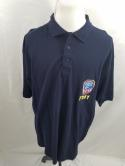 FDNY Mens 2XL New York Fire Department Navy Blue Cotton Polo Shirt NWT Licensed