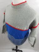 Don Cano VTG Mens Womens 54 EU Gray Blue Wool Nordic Sweater Norway Color Block