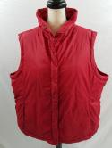 Eileen Fisher Woman 2X Red Puffer Quilted Down Feather Ski Winter Vest Womens