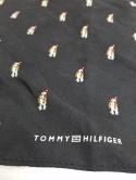 Tommy Hilfiger 13x13 Black Santa Dog Christmas Basset Hound Silk Pocket Square