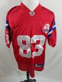 Wes Welker Mens 48 M Red New England Patriots Jersey 60th Anniversary Reebok