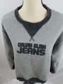 Calvin Klein Jeans Womens L Gray Charcoal Heather Crewneck Spell Out Sweatshirt