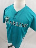 Charles Johnson Mens M L Florida Marlins True Fan Button Up MLB Jersey VTG Miami