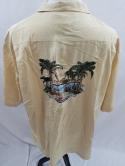 Nat Nast Mens XL Cream Rum Runners #95 Button Down Nassau Bahamas Hawaiian Shirt