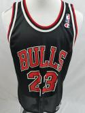 VTG Michael Jordan Champion Mens 48 Mint NBA Black Chicago Bulls Jersey