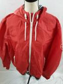 Tommy Hilfger Mens 2XL Salmon Red Nautical Windbreaker Zip Up Jacket Sailing