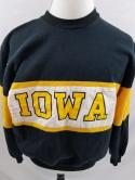 VTG 80s Iowa Hawkeyes Mens L Nutmeg Mills Color Block Football Sweatshirt Spirit