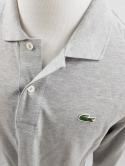 Lacoste Mens 5 L Heather Gray Long Sleeve Cotton Polo Shirt