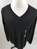 Apt 9 Mens Big & Tall Black 3XL 3XB  Merino Wool Blend V Neck Sweater NWT