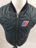 VTG United Airlines Mechanic Flight Crew Mens M Quilted Vest Amazon Sportswear